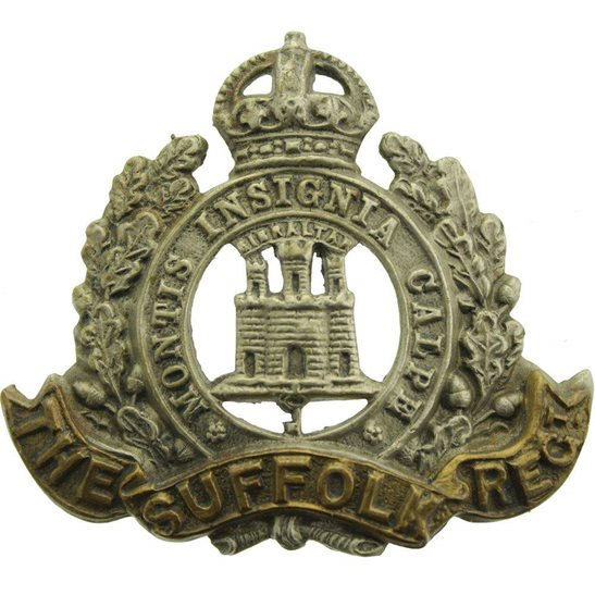 Suffolk Regiment Suffolk Regiment Cap Badge - EARLY LUGS VERSION