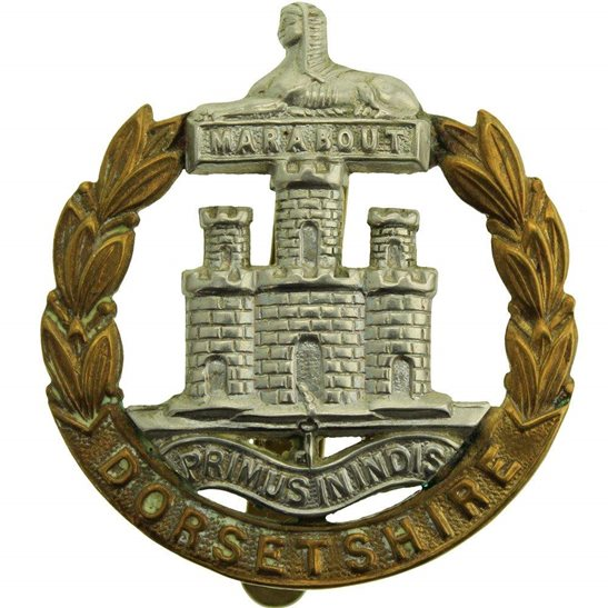 Dorset Regiment WW2 Dorsetshire (Dorset) Regiment Cap Badge