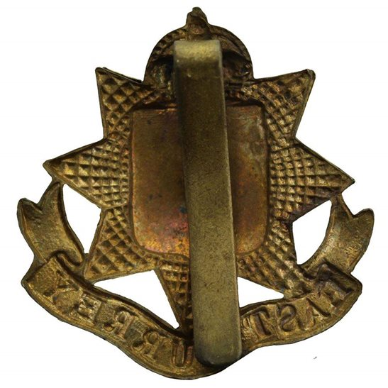 additional image for WW2 East Surrey Regiment Cap Badge