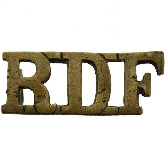 Royal Dublin Fusiliers WW1 Royal Dublin Fusiliers RDF Irish Regiment Shoulder Title