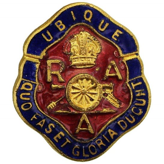 Royal Artillery Royal Artillery Regiment Old Comrades Association OCA Lapel Badge