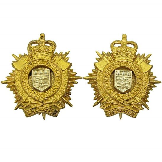 Royal Logistic Corps Royal Logistics Corps OFFICERS Logistic Collar Badge - Queens Crown