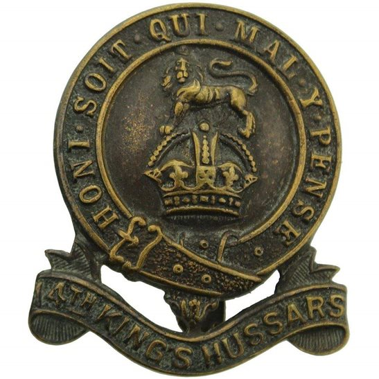 14th Hussars WW1 14th Kings Hussars (King's) Regiment Cap Badge