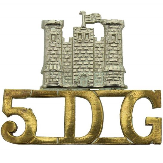 5th Dragoon Guards 5th Royal Inniskilling Dragoon Guards Irish Regiment Shoulder Title 5DG