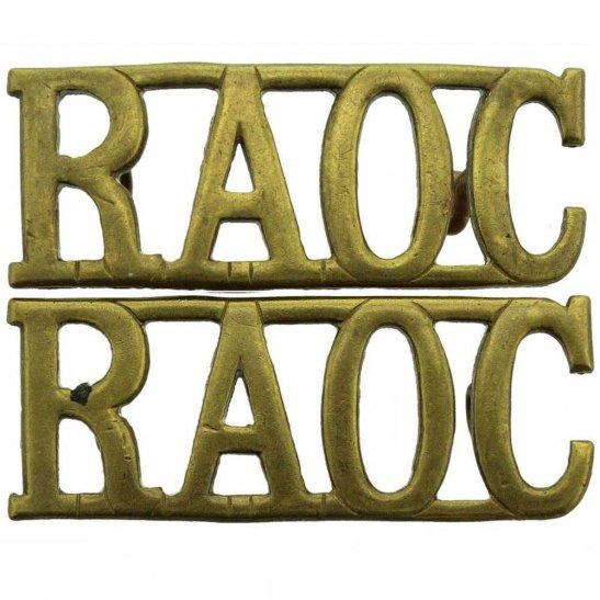 Royal Army Ordnance Corps WW2 Royal Army Ordnance Corps RAOC Shoulder Title PAIR