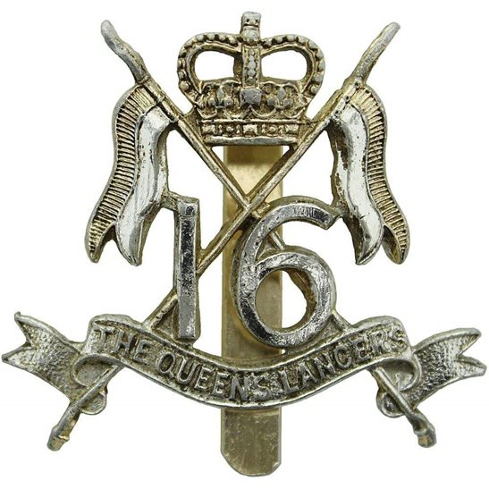 16th Lancers Queens 16th Lancers Staybrite Anodised Cap Badge - Staybright