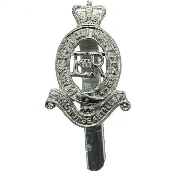 Royal Horse Artillery RHA Royal Horse Artillery RHA Staybrite Anodised Cap Badge - Staybright