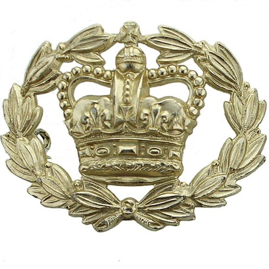Warrant Officer 2nd Class Staybrite Anodised Cap Badge - Staybright
