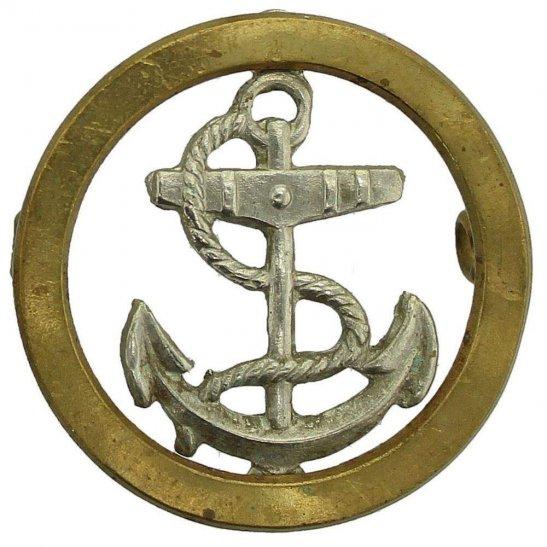 British Sailors Royal Navy Seamans Naval Anchor Cap Badge