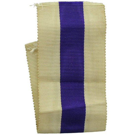 WW1 / WW2 Spare British Military Cross Medal MC SILK Ribbon - Measures 5 Inches