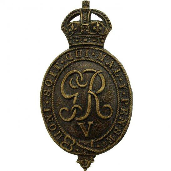 Household Battalion WW1 Raised Household Battalion Cavalry Regiment Cap  Badge