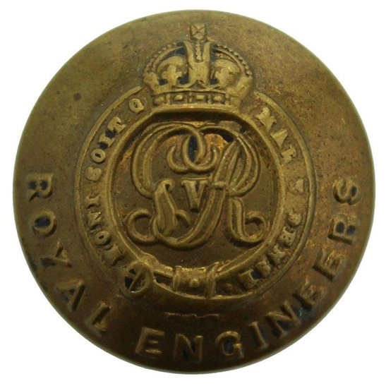 Royal Engineers WW1 Royal Engineers Corps (George V) Tunic Button - 25mm