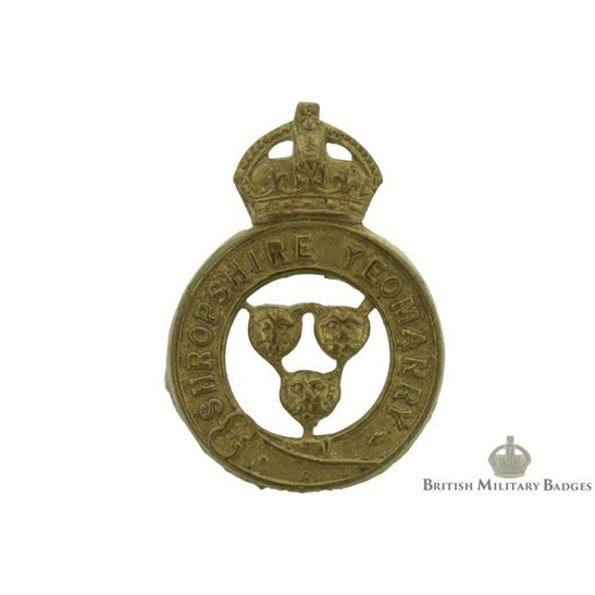 Shropshire Yeomanry Regiment Collar Badge