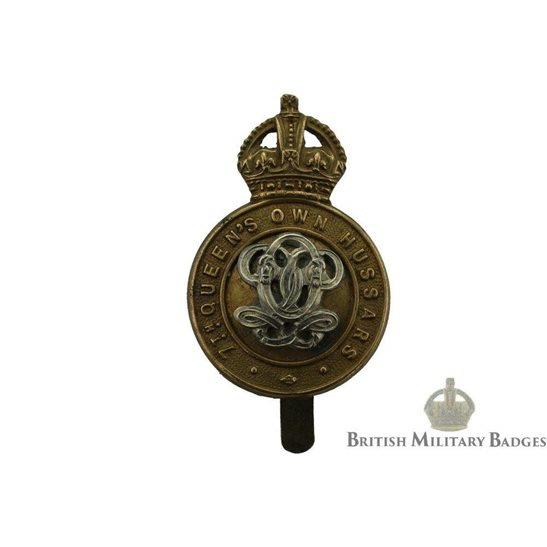 7th Queens Own Hussars Regiment (Queen's) Cap Badge