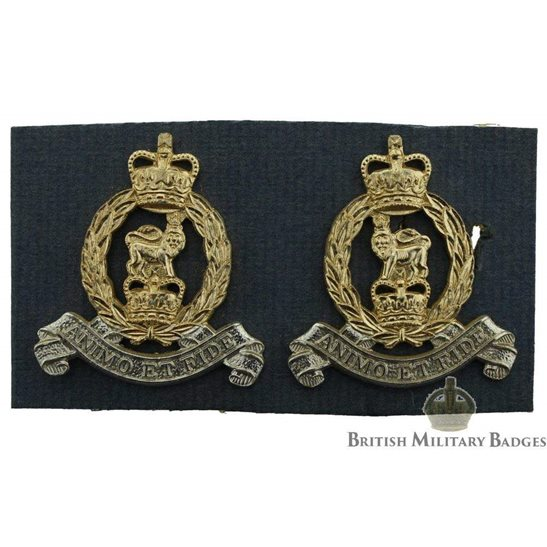 Adjutant General Corps Staybrite Collar Badge PAIR