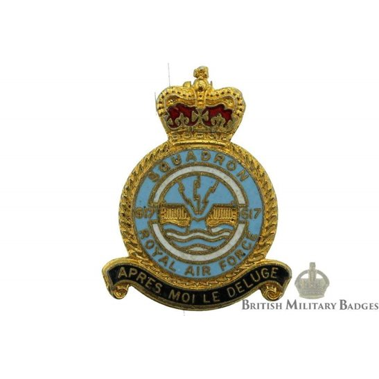 617 (Dambusters) Squadron Royal Air Force RAF Lapel Badge