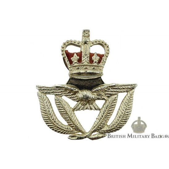 Royal Air Force RAF Warrant Officers Staybrite Cap Badge