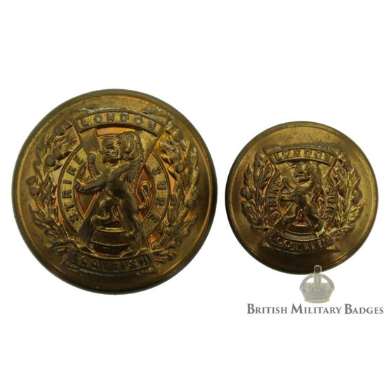The London Scottish Regiment Tunic Buttons Set - 26mm & 19mm