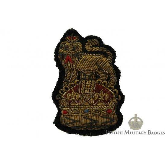 Aide-De-Camp / Substantive Colonel Officers Insignia Rank CLOTH BULLION Cap Badge