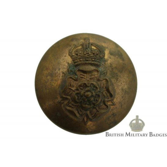 Queens Own Yorkshire Dragoons Regiment Queen's Tunic Button - 26mm