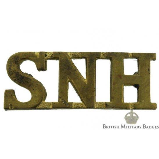 South Notts (Nottinghamshire) Hussars Regiment Shoulder Title