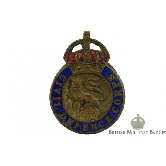 WW2 Civil Defence Corps Lapel Badge
