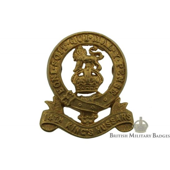 14th / 20th King's Hussars Regiment Kings Collar Badge