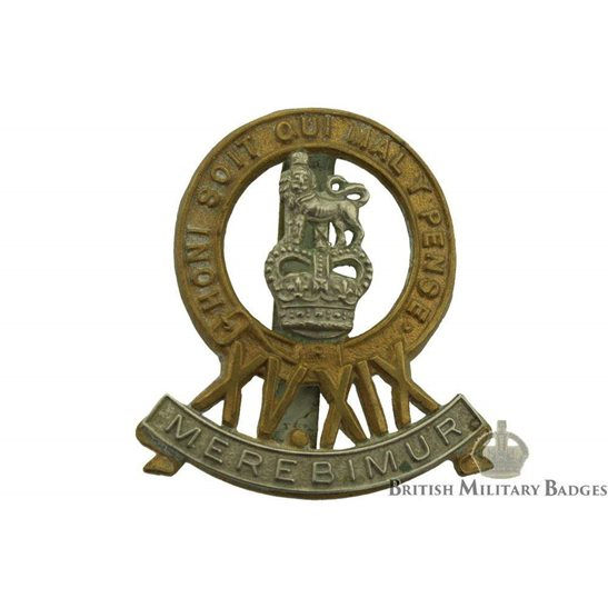 15th / 19th The Kings Royal Hussars Regiment King's Cap Badge - QUEENS CROWN