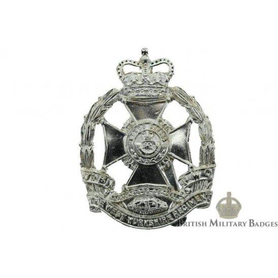 7th Battalion West Yorkshire Regiment Staybrite Cap Badge