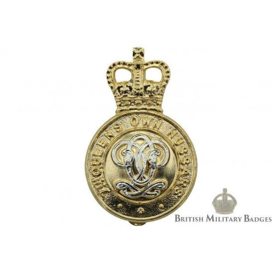 7th Queens Own Hussars Regiment (Queen's) Staybrite Cap Badge