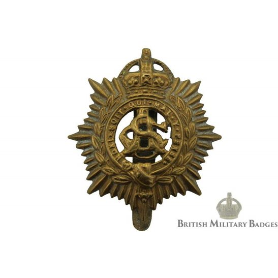 Army Service Corps ASC Cap Badge - F.E. WOODWARD B'HAM Makers Mark