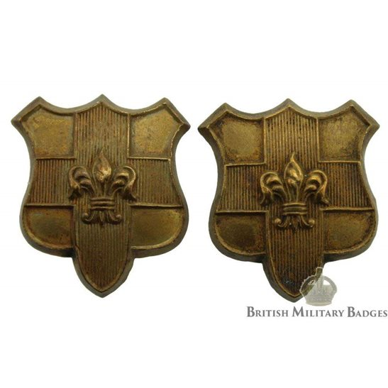 Loyal North Lancashire Regiment Collar Badge PAIR