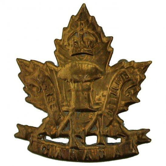 WW1 Canadian Army WW1 Canadian 44th Battalion (Manitoba) Canada CEF Collar Badge