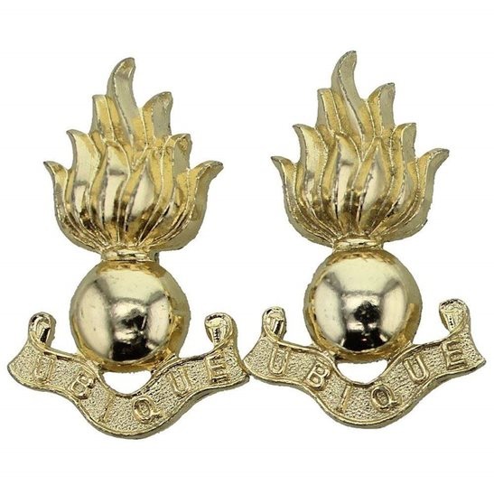 Royal Engineers Royal Engineers Corps Staybrite Anodised Collar Badge PAIR - Staybright