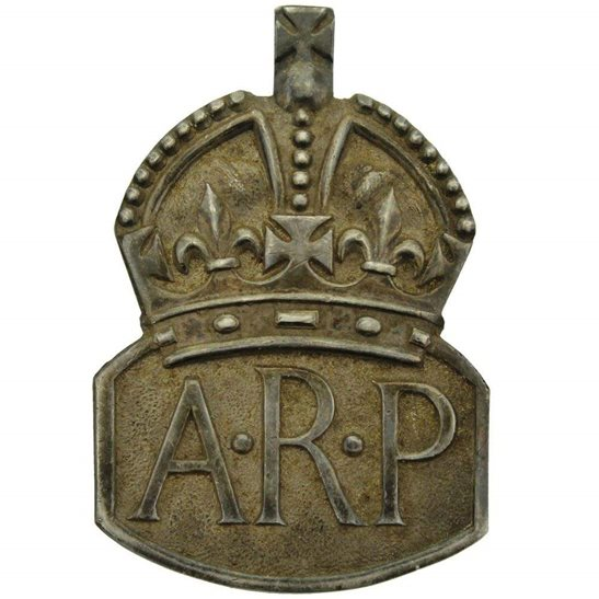 Pin By On C A R S: WW2 ARP Warden (Air Raid Precautions) HALLMARKED Silver