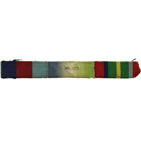 WW2 Medal Ribbon Bar - 1939-45 Star, Atlantic & Pacific - SEW ON