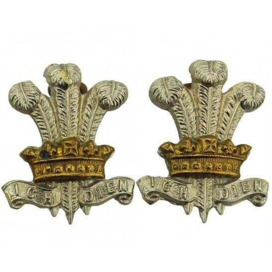 Leinster Regiment WW1 Leinster Regiment Irish Collar Badge PAIR