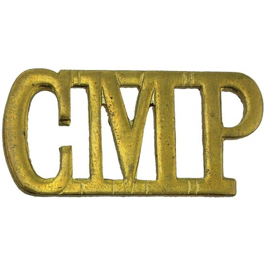 Corps of Military Police CMP WW1 Corps of Military Police CMP Shoulder Title