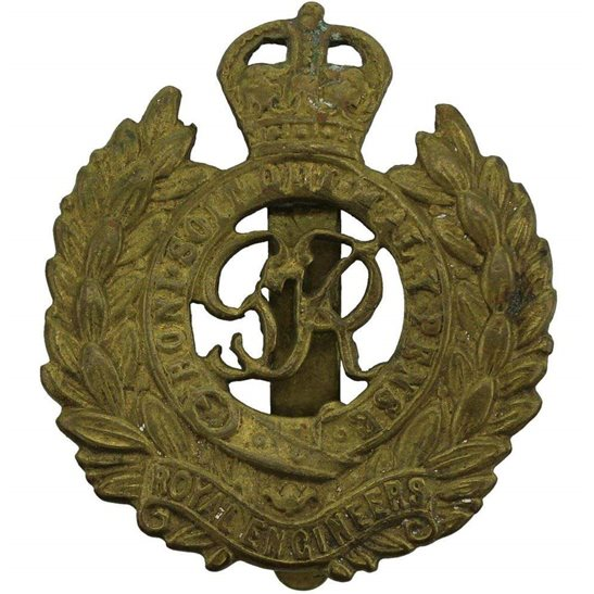 Royal Engineers WW2 Royal Engineers Corps (George VI) Cap Badge