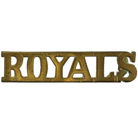 1st Royal Dragoons 1st, The Royal Dragoons (Royals) Regiment Shoulder Title