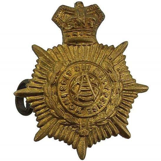 Army Service Corps ASC Victorian Army Service Corps ASC Collar Badge - Queen Victoria Crown