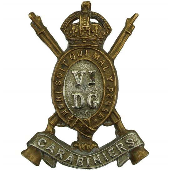 6th Dragoon Guards 6th Dragoon Guards (VI Carabiniers) Regiment Collar Badge
