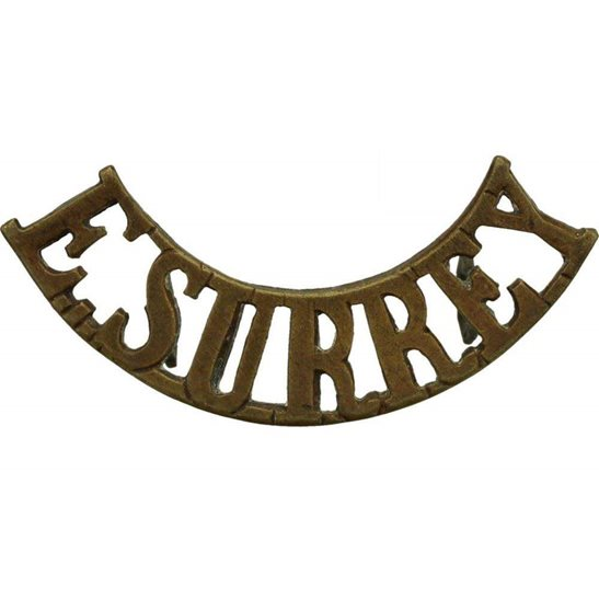 East Surrey East Surrey Regiment Shoulder Title