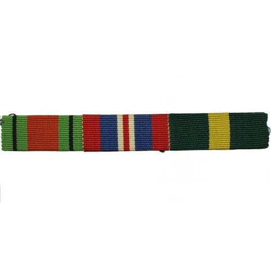 WW2 Medal Ribbon Bar - 1939-45 Defence, War & Efficiency Decoration Medal - SEW ON
