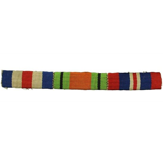 WW2 Medal Ribbon Bar - France and Germany Star, Defence & War - SEW ON