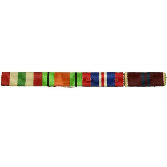 WW2 Medal Ribbon Bar -  Italy Star, Defence, War & Coronation 1953 - SEW ON