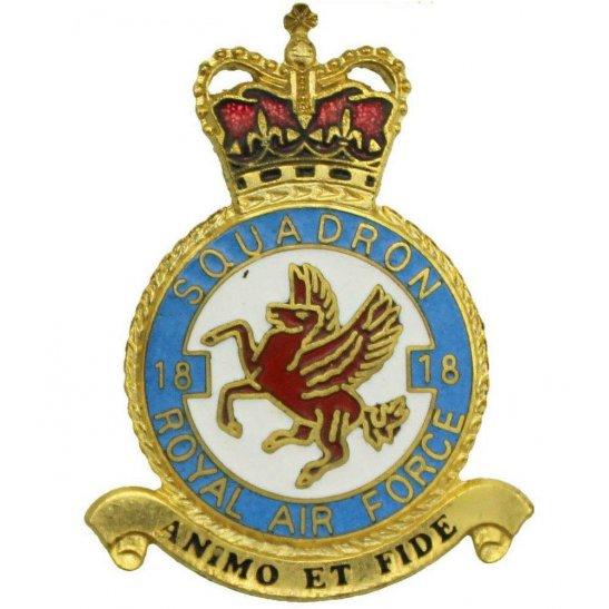 RAF Squadrons 18 Squadron Royal Air Force PLAQUE Badge RAF