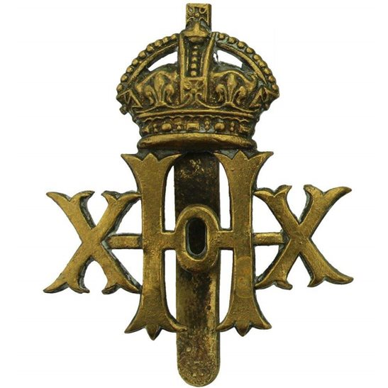 20th Hussars WW1 20th Hussars Regiment Cap Badge