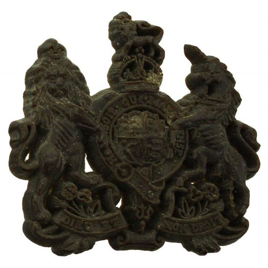 General Service Corps WW2 General Service Corps PLASTIC Economy Issue Cap Badge
