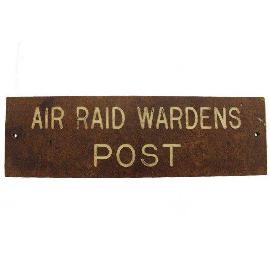 Air Raid Precautions ARP WW2 Air Raid Precautions Warden ARP Post Bakelite Door Plaque Sign